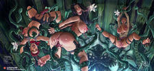 3_girls nipple_sucking normal_breasts pheromones plants pollen pussy_tickling tentacles tickling // 6000x2761 // 5.9MB